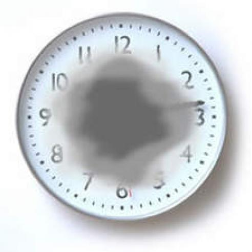 Clock face obscured by AMD