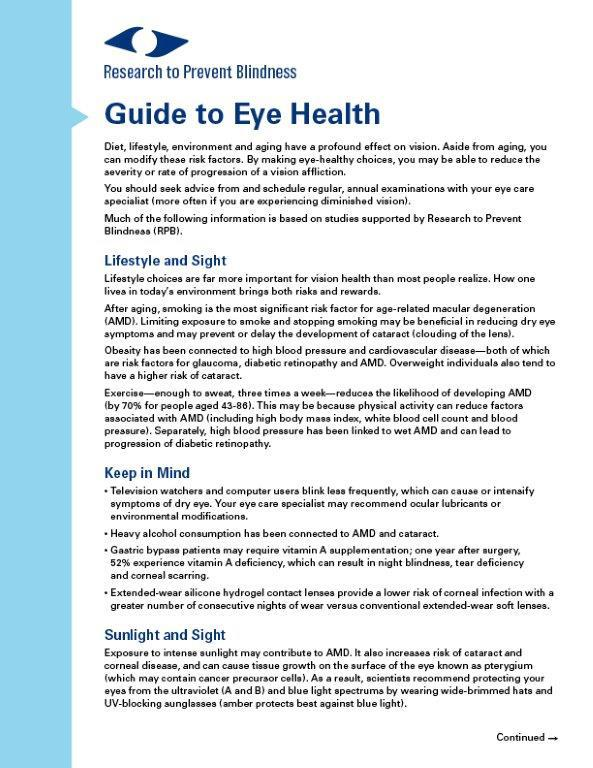 Guide to Eye Health