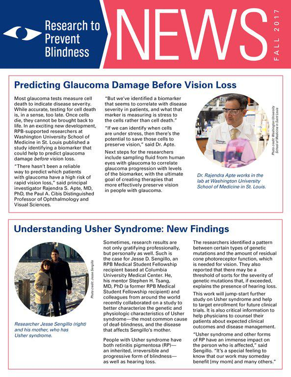 RPB Eye Research News Fall 2017
