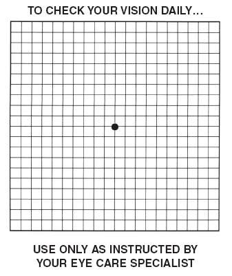 Amsler Grid Eye Test Chart